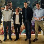 Mit dabei: Sigrit Liebe vom Rugby Verband Bayern, Mathias Entenmann, MRFC-Präsident Helmut Kraiger sowie die beiden Turnier-Organisatoren Michael Weber für das #pro-Turnier und Ole Zimmer für das #classic-Turnier.